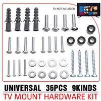 Universal TV VESA Hardware Kit Wall Mount Screw Washer Spacer 36PCS M3 M4 M5 M8