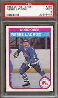 1982-83 o-pee-chee #286 PIERRE LACROIX quebec nordiques PSA 9