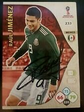 Raul Jiminez SIGNED Mexico World Cup 2018 Panini Card