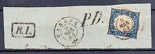 LOMBARDO VENETO - Varese 9.3.1861 - RL+PD - 20 cent (15Cb Sardegna) su frammento