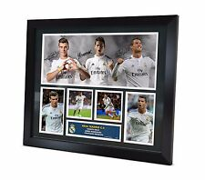 Real Madrid Signed 2015 photo - Ronaldo - Bale - James - Framed Memorabilia