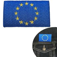 EU Flag iron on patch - European Union Europe Euro Europa Eurovision patches