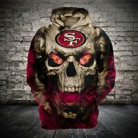 San Francisco 49ers Football Hoodie Fans Pullover Sweatshirt Hooded Jacket S-5XL