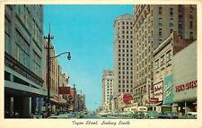Charlotte North Carolina~Tryon Street~Wilbur Rogers Store~Baker Shoes~1950s Cars