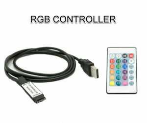 LED RGB Controller 24Key Remote + USB POWERED DC 5V for RGB LED Strip Light