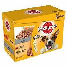 Pedigree Adult Wet Dog Food Pouches Mixed Selection in Loaf - 100g - 401646