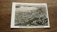 OLD 1940s NEW ZEALAND PHOTOGRAPH, VIEW OF DUNEDIN AERIAL VIEW