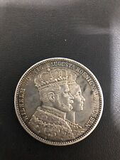 """1861 Prussia, Wilhelm I """"The Great"""". Silver Coronation Thaler Coin"""