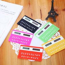 stationery card calculator convenient ultrathin Solar Power Pocket Calculator