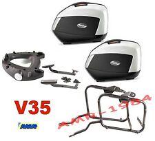 HONDA CB500 X 2013-14  KIT VALIGIE V35 cover WHITE + TELAIO PLX1121 + 1121FZ +M5