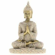 Handmade Meditation Buddha Statue Sandstone Sculpture Figurine # 3 I4Z1