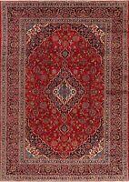 Traditional VINTAGE Handmade Floral Ardakan Oriental Area Rug Wool Carpet 8'x11'