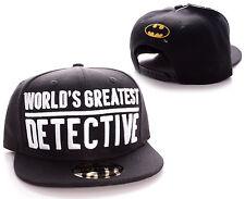 DC COMICS BATMAN WORLD'S GREATEST DETECTIVE SNAPBACK CAP HAT (OFFICIAL)