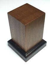 BASE IN LEGNO MOGANO PER FIGURINI - WOOD BASE FOR MODEL 4x4 h6 BICOLORE