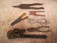 VINTAGE ANTIQUE METAL CARPENTER REPAIRMAN TOOLS WRENCHES OTHER TOOLS