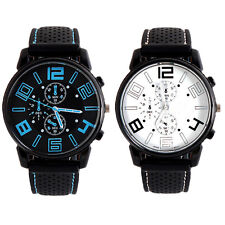 Cool Men Fashion Stainless Steel Sport Quartz Military Wrist Analog Wrist Watch