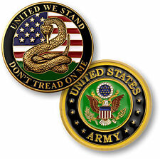 Don't Tread On Me - United We Stand - US Army Challenge Coin NEW