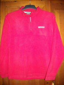 regatta red ladies fleece top / jumper size 14