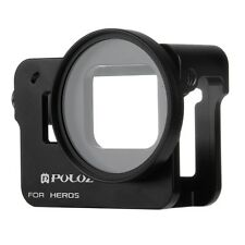 PULUZ For Gopro Hero 5 Housing Shell Aluminium Alloy Frame Cage W/ 52mm UV Lens