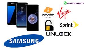 Remote Unlock Service Samsung A10e,A11,A20, A21, A51, A71 Sprint, BoostMobile