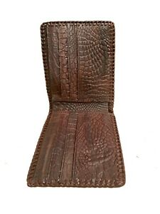 Double sides Alligator leather bifold wallet men 100% from real Crocodile skin