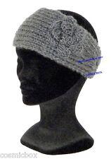 BANDEAU femme hiver gris clair uni TAILLE UNIQUE chapeau bonnet woman grey hat