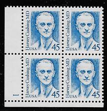 US Scott #2188, Plate Block #1 1988 Cushing 45c VF MNH Lower Left