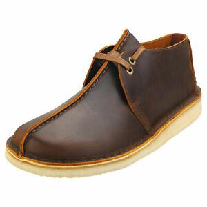Clarks Originals Desert Trek Mens Beeswax Leather Desert Shoes