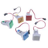 Indicador medidor voltaje amperímetro voltímetro de pantalla digital *ws