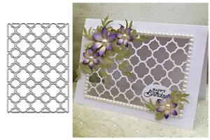 Grid Frame Metal Cutting Die Stencil Embossing Scrapbooking Album Card Craft UK