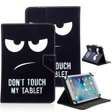 Don't Touch My Tablet 10 Universal Leather Box Case For Acre/Alcatel/ASUS/Amazon