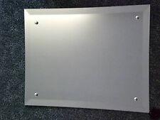 "FRAMELESS BEVELLED EDGE WALL MIRROR 914mm x 457mm  (36"" x 18"")  HOLES & FIXINGS"