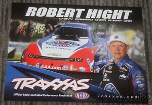 2015 Robert Hight signed Traxxas Chevy Camaro Funny Car SEMA Show NHRA postcard