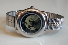 Women Halloween Silver Finish Stretch Band Fashion Dressy/Casual Watch