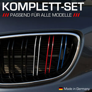 Nierenaufkleber für alle BMW Autos Dunkelblau/Rot/Weiß/Hellblau Nieren Aufkleber