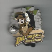 Disney Pin Mickey Swinging Indiana Jones Adventure Limited to 1000 W/shirt Piece
