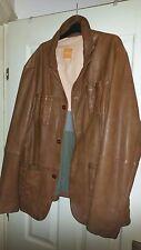 Authentic Hugo Boss Orange, men's, lamb leather jacket, brand new, size UK 56
