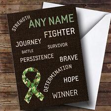 Cancer Army Survivor Personalised Card