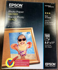 3 Boxes Epson Glossy Photo Paper 8-1/2 x 11 - 100 S041271