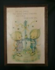 Hallmark Betsey Clark Plaque Joy Will Dance Whole World but Must begin with You