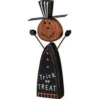 Primitives by Kathy Halloween Chunky Sitter Pumpkin Head Jack Trick or Treat
