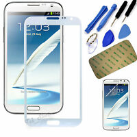 White LCD Touch Screen Outer Glass Lens Case Cover For Samsung Galaxy Note 2