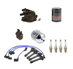 🔥OEM Complete Tune Up Kit Filters Wires 4 Spark Plugs For Infiniti G20 L4 2.0🔥