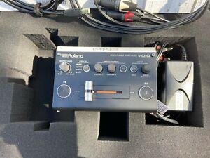 Roland V-02HD Video Mixer / Switcher Case c/w PSU, USB Lead & Custom Audio Lead.