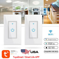 2X Wi-Fi Wall Switch Compatible with Alexa,Google Home,IFTTT(Tuya/Smart Life) US