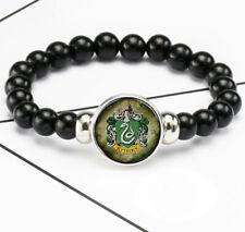 Harry Potter Slytherin Photo Glass Noosa Snap Chunk Elastic Beads Bracelet