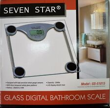 Sleek New LCD Tempered Glass Digital Bathroom Scale 330lbs Body Weight Fitness