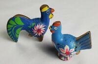 Vintage Blue Birds with Floral Design Salt & Pepper Shakers