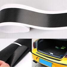 Universal 3D Carbon Fiber Car Rear Bumper Trunk Tail Lip Protect Black Sticker