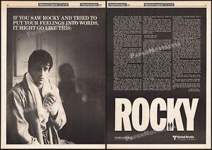 ROCKY__Original 1977 Trade print AD / promo advert / poster__SYLVESTER STALLONE